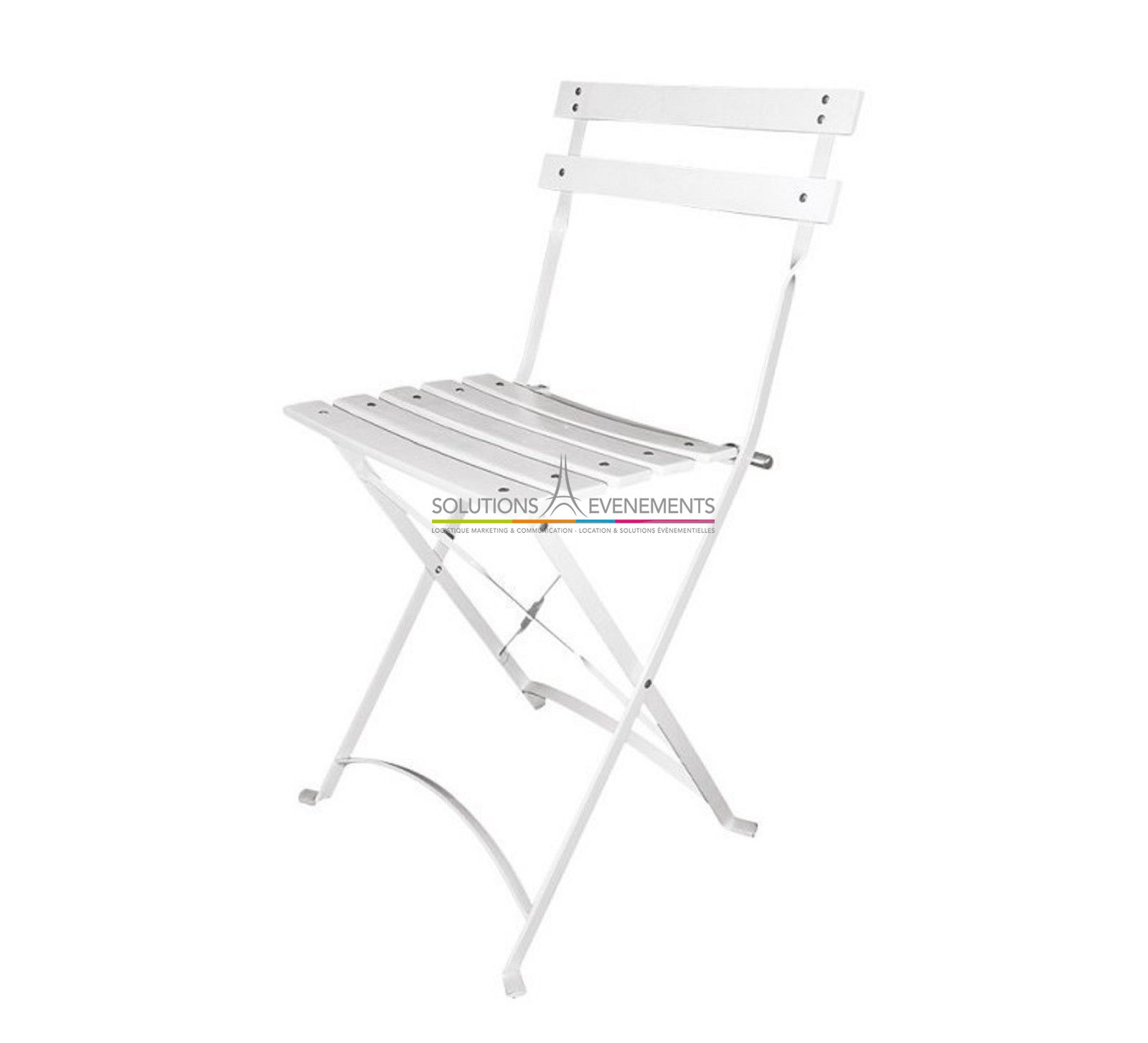 Location chaise pliante latte blanche square evenement - Chaise pliante exterieur ...