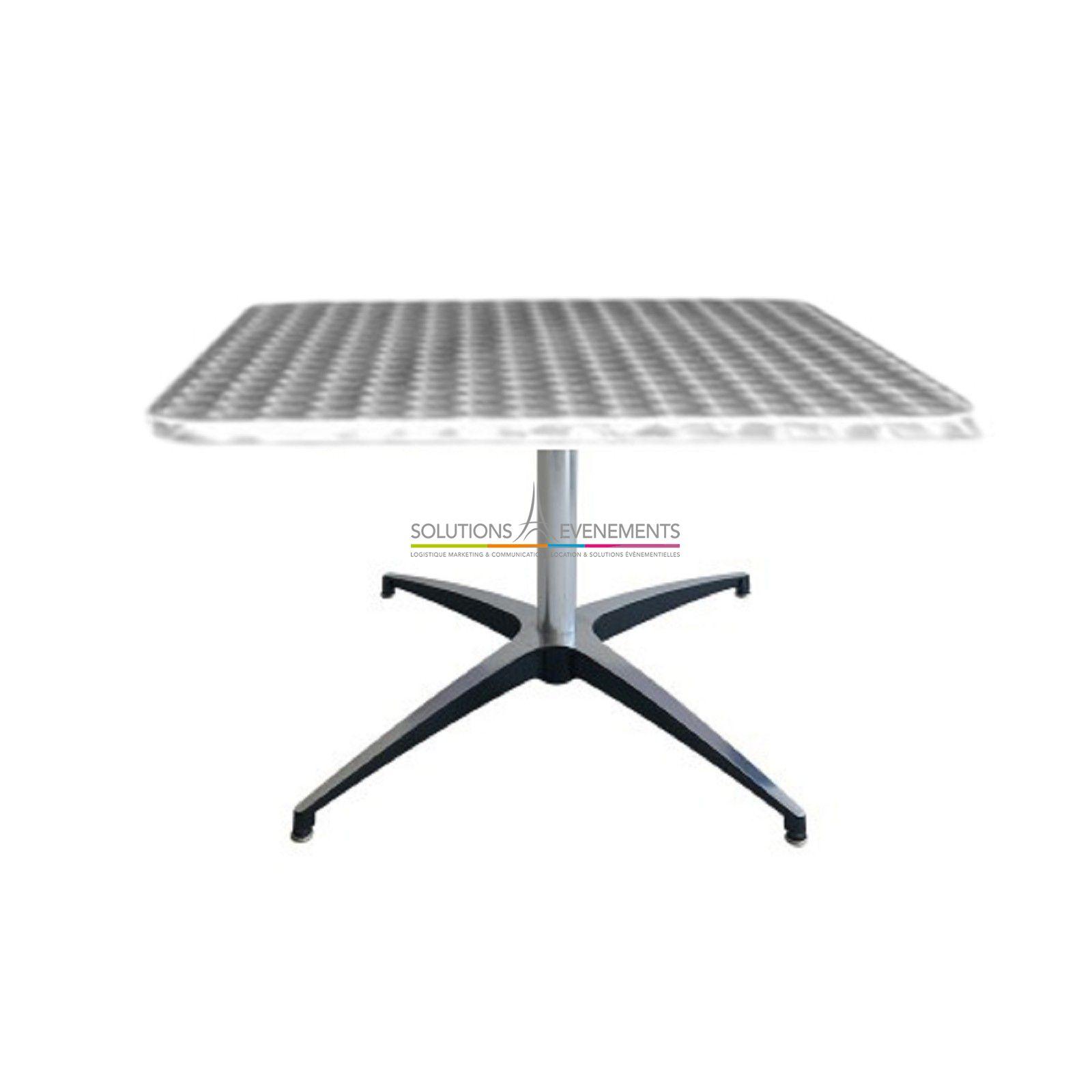 Table Basse En Inox dedans location table basse bistrot/inox - solutions evenements