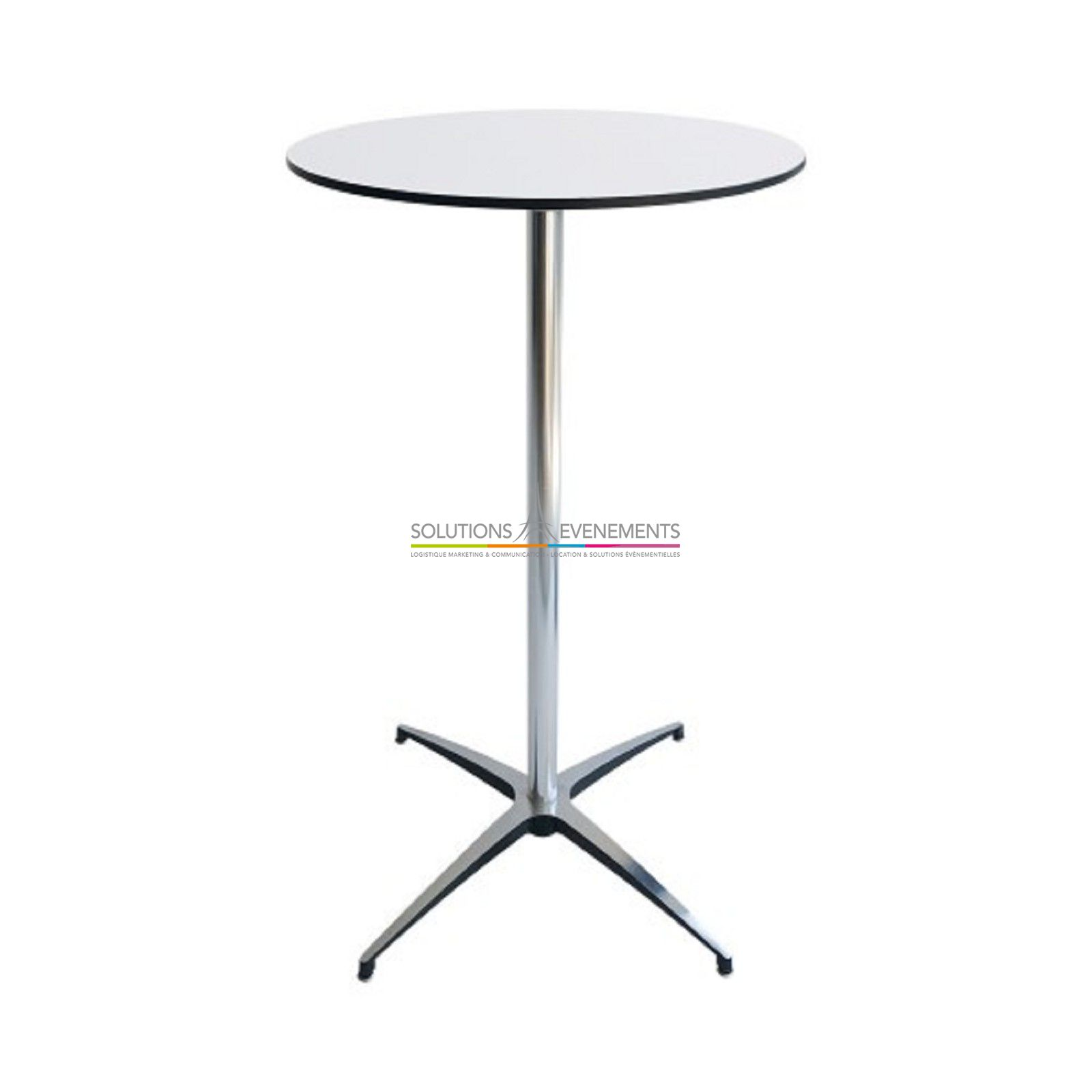 location table haute mange debout blanc et couleur solutions evenements. Black Bedroom Furniture Sets. Home Design Ideas