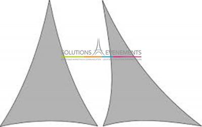 TOILE EXTENCE PRO - LYCRA Triangle isocèle 2x3m