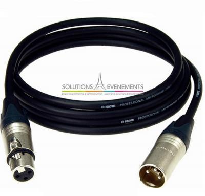 Câble xlr/xlr audio 20M