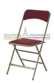 Chaise pliante velour rouge Apolline