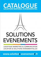 Nouveau catalogue Solutions Evenements 2015