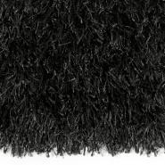 Tapis noir à poils longs