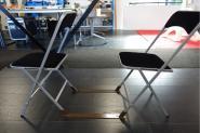 Chaise pliante velour noire Apolline