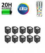 Kit 10 projecteurs LED sans FIL avec batterie