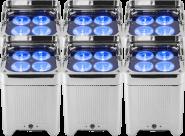 Pack 6 projecteurs déco LED Etanche WELL FIT