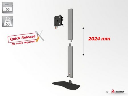 Pied Audipack pour écran 32 à 65 pouces