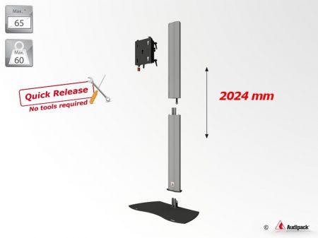 Pied Audipack pour écran 32 à 90 pouces