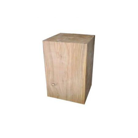 Pouf cube bois