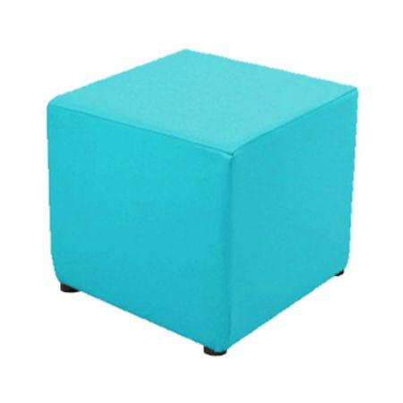 Pouf turquoise