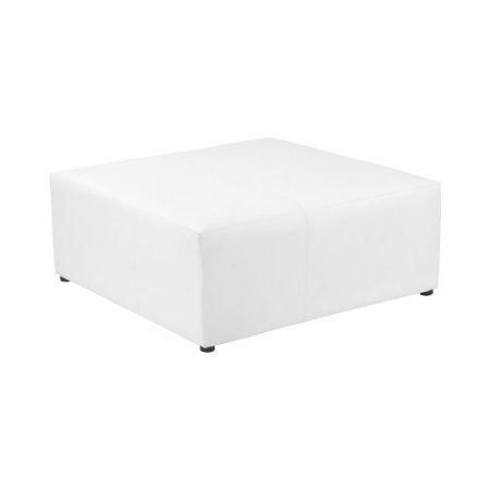Pouf XL carré blanc