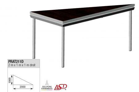 Praticable triangulaire droit 2x1m ASD PRAT211D
