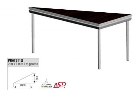 Praticable triangulaire gauche 2x1m ASD PRAT211G