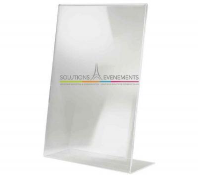 Présentoir de table plexi transparent A4