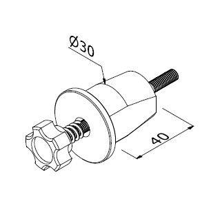Quickfix LS - M6/D30 x 80 A (Corner)