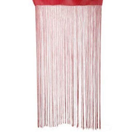 Rideaux de fil Rouge