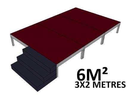 Scene 6m2 hauteur 60cm brute