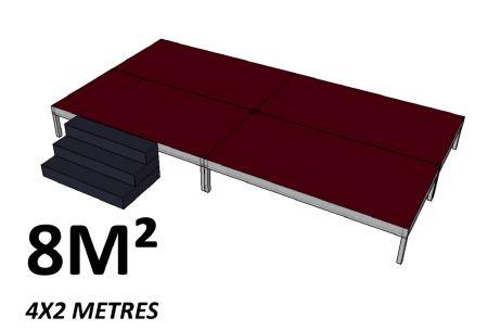 Scene 8m2 hauteur 60cm brute
