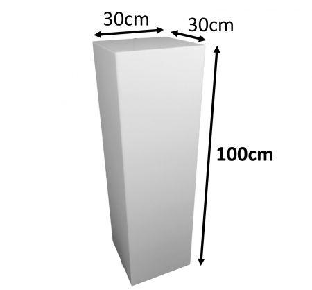 Stele 100x30x30 blanche