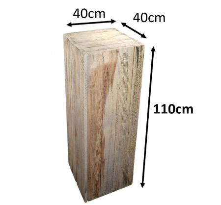 Stele 110x40x40 vintage en bois