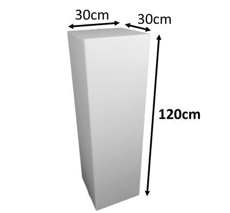 Stèle 120x30x30 blanche avec cloche