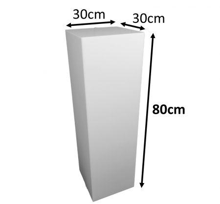 Stele 80x30x30 blanche avec cloche
