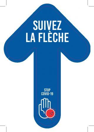 Sticker 'FLECHE SOL - SUIVEZ LA FLECHE'