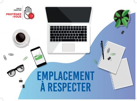 Sticker 'SET DE BUREAU - EMPLACEMENT A RESPECTER'