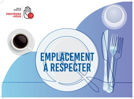 Sticker 'SET DE TABLE - EMPLACEMENT A RESPECTER'