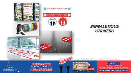 Stickers Gardez vos distances 15x80cm