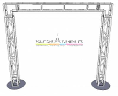 Structure en Arche  3M50X5M