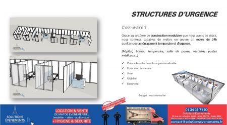 Structures d'urgence