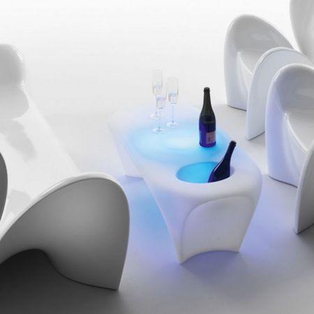 Table basse lumineuse Ice