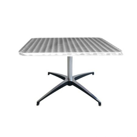 Table basse Modulx carre bistrot-inox