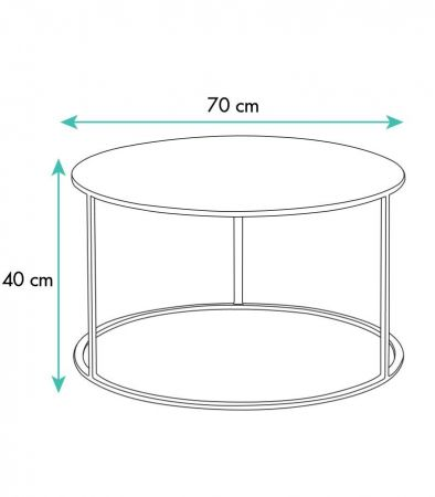 Table basse ronde Seattle blanche