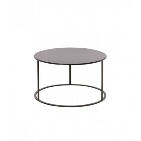 Table basse ronde Seattle noire