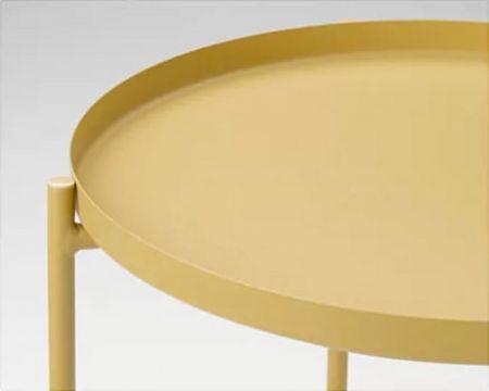 Table basse scandinave Malmo jaune