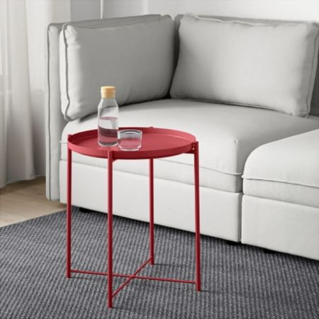 Table basse scandinave Malmo rouge