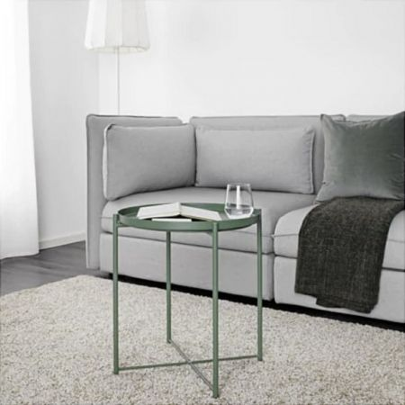 Table basse scandinave Malmo verte