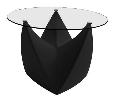 Table basse Spootnik NOIRE  plateau transparent