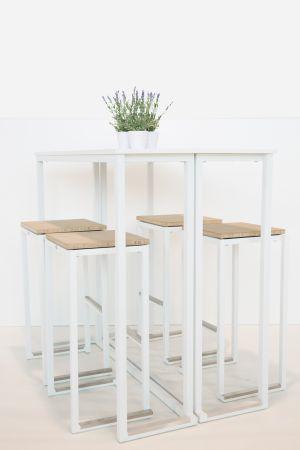 Table Buffet Kubo Blanche - Plateau Noir