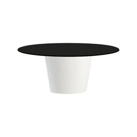 Table Conic O Blanche - Plateau Noir