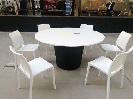 Table Conic O Noire - Plateau Bois