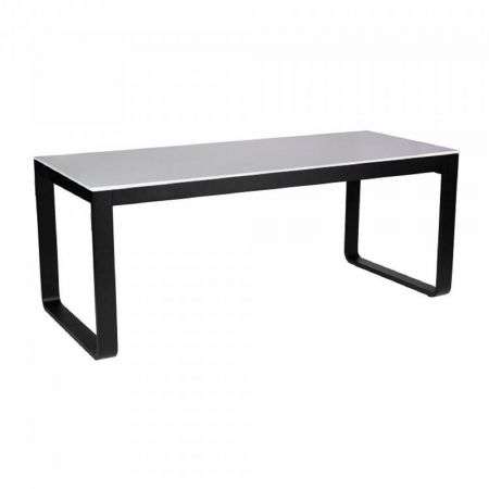Table Flow 180cm - plateau blanc