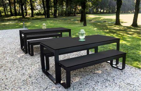 Table Flow 180cm - plateau noir