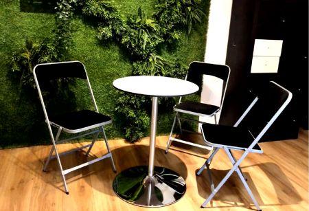 Table Guéridon Modulo blanc 60cm
