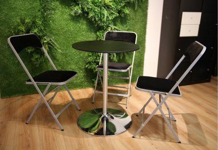 Table Guéridon Modulo noir 60cm