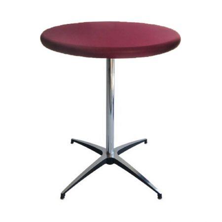 Table Guéridon Modulx bordeaux