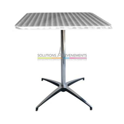 location table gueridon bistrot inox solutions evenements. Black Bedroom Furniture Sets. Home Design Ideas